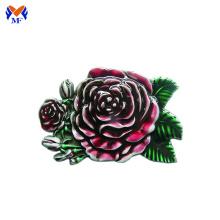 Rose Blume benutzerdefinierte Design Gürtelschnalle