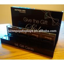 Kosmetik Shop Display Rack für Haar Dressing Geschenkkarten Custom Kleine Acryl Retail Counter Display