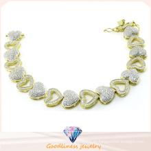 Mujeres estilo corazón pulseras joyas de moda para señora 925 pulseras de joyería de plata Bt6602