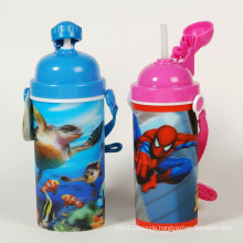 Eco-Friendly Plastic 3D Lenticular Cups with Lids and Straws