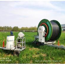 Equipamento de irrigação de carretel de mangueira de gramado