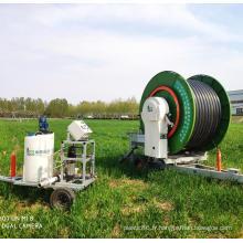 Équipement d'irrigation de bobine de tuyau de pelouse de pistolet de pulvérisation
