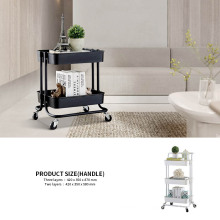 Two Layer Kitchen Rolling Cart Salon Detachable Beauty Shower Trolley Salon Furniture Commercial Furniture Plastic Apartment