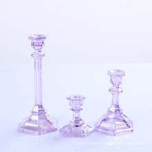 Crystal Glass Taper Candle Holder for Home Decoration