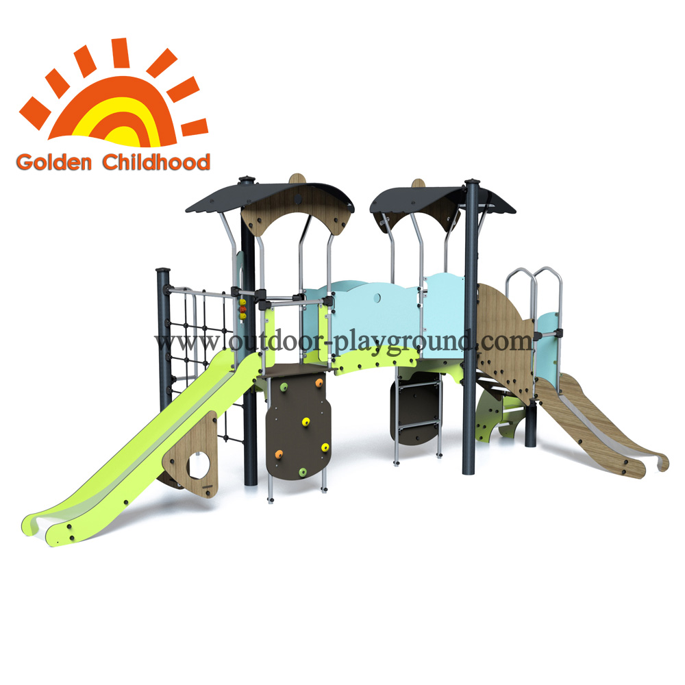 Climber Net Slide Outdoor Playground Facility For Children