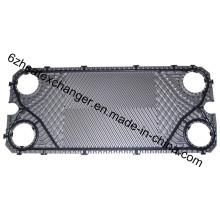 Placas de acero inoxidable / Ti para intercambiador de calor de juntas Sondex S30