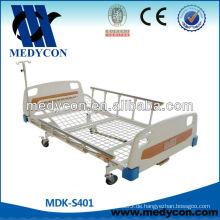 Manuelles Bett mit Einzelfunktion, Einzelkurbel Patientenbett