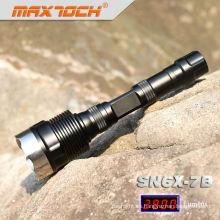 Maxtoch SN6X-7B iluminación negro LED Cree T6 de gran alcance táctico