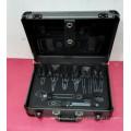 Personalizable profesional de aleación de aluminio ABS herramienta de mano caso conjunto