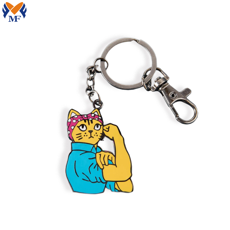 Custom Cat Keyring