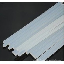 Tiges de caoutchouc de silicone transparentes / transparentes extrudées douces