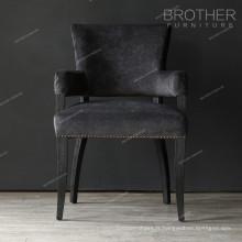 Mobilier d'appoint moderne chaises rembourrées à manger avec bras