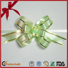 50mm Gold Thread Large Plastic Ribbon Bow for Packing