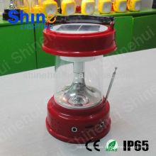 ABS plástico / PC transparente con la linterna llevada función de la emergencia que acampa linterna que acampa recargable solar