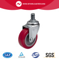 Mini 2 Zoll 30kg Threaded Swivel TPU Caster