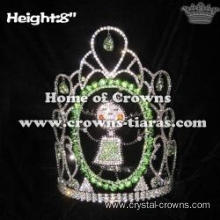 Wholesale Custom Pageant Crowns With Green Diamonds