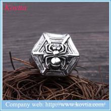 Os homens de aço inoxidáveis novos 2016 do aço inoxidável da forma da aranha dos homens anel titanium do anel