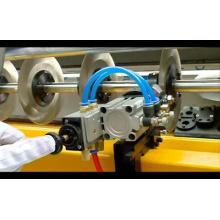 Máquina de corte automatizada da tela do PLC do computador