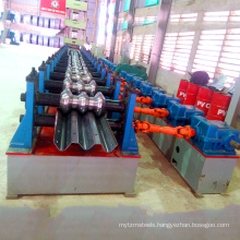 Galvanized two wave guard barrier metal steel panel sheet making molding hydraulic highway guardrail roll forming machine