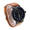 Nova moda couro relógios de quartzo