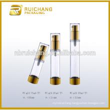 15ml/20ml/30ml aluminium cosmetic airless bottle,metallic round airless bottle,cosmetic airless pump bottle