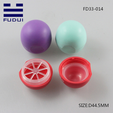 New cute ball shape lip balm tube