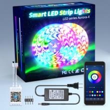 Tira de luz LED inteligente 5050 Bluetooth