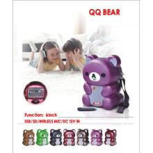 "Altavoz portátil de 6 ""QQ Bear"