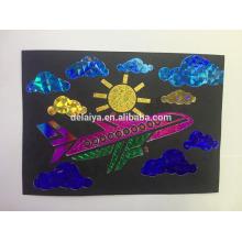 Amazing foil sheet transfer painting art for kids