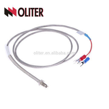 wzp rtd temperature sensor fixing thread insulated metal sheathed braid shielding cable platinum wire high accuracy pt100