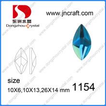 Fabrik Großhandel Peridot Glas Steine für Schmuck Ornament