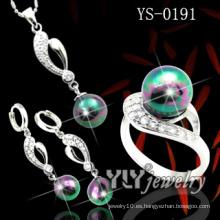 Joyería de moda 925 conjunto de perlas de plata (ys-0191)