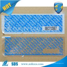 Fita de segurança imprimível e inviolável. Fita de embalagem única personalizada