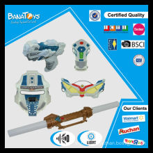 Plastic kid toy space gun set with mask and sword