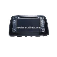 Navegación del gps del coche de cuatro núcleos con la cámara inalámbrica del Rearview, wifi, BT, vínculo del espejo, DVR, SWC para Mazda 6