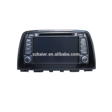 Navigation quad gps voiture avec caméra de recul sans fil, wifi, BT, lien miroir, DVR, SWC pour Mazda 6