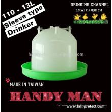 110 13L Qualidade Plastic Sleeve Type Poultry Drinkers