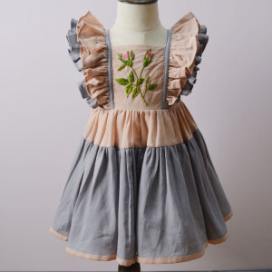 Dollcake hand Embroidered cotton linen dress for Spring