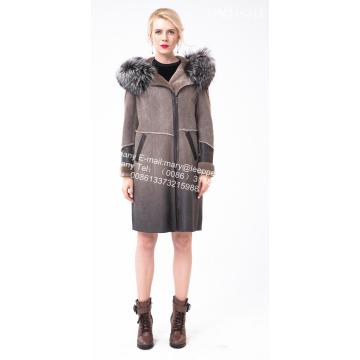 Short Women Spain Merino Shearling Casaco Grosso