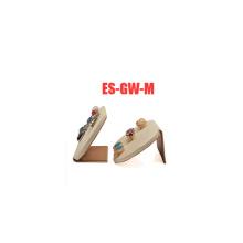 Cuero sintético con soporte de titular de pendiente de joyería de metal al por mayor (ES-GW-M)