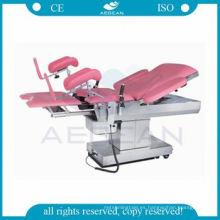 Mesa de la sala de clínica obstétrica para la cama de maternidad de las mujeres embarazadas