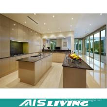 Quartz artificiel avec des meubles de placard de cuisine d'évier (AIS-K374)