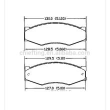 D266 FDB340 FSL340 140526-087 pour plaquette de frein de voiture Nissan Infinit