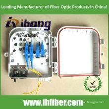 FTTH Caja de distribución impermeable al aire libre del divisor 1 * 8 cable de salida portuario.