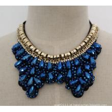 Talão de cristal moda charme robusto traje bib gargantilha colar colar (jE0007)