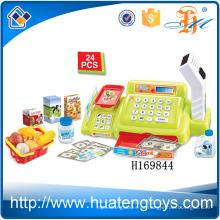 H169844 Heiße simulierte Scanner Einkaufskost Kinder Supermarkt Kasse Spielzeug mit Ton und Licht