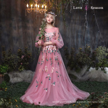 XXLF182 ladies new model dress & ladies fashion lace dresses designs border embroidered lace for bridal dress