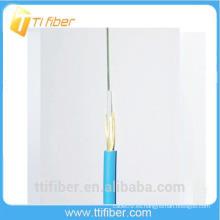 Cable de fibra óptica al aire libre de 6 núcleos con miembro de resistencia de hilo de aramida y chaqueta LSZH