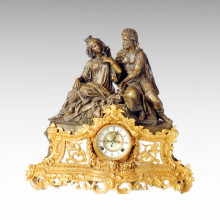 Clock Statue Queen King Bell Bronze Sculpture Tpc-021j