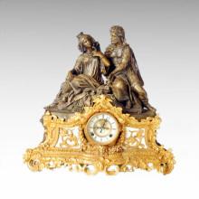 Clock Statue Queen King Bell Bronze Sculpture Tpc-021j
